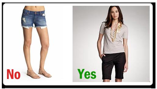 Avoid Short Shorts
