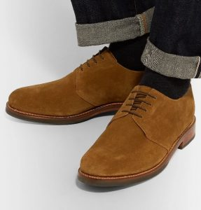 Suede derby shoes dressy casual