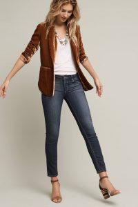 Velvet blazer dressy casual