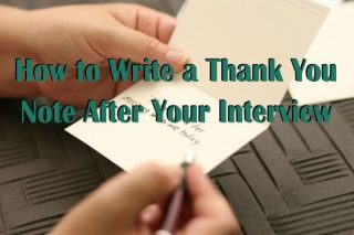 Interview Thank You Note Writing Tips